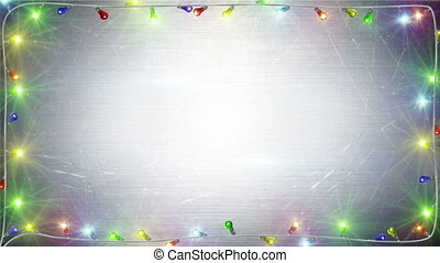 christmas lights frame loopable background