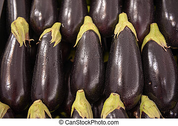 Eggplant aubergine brinjal - lot of neatly folded clean...