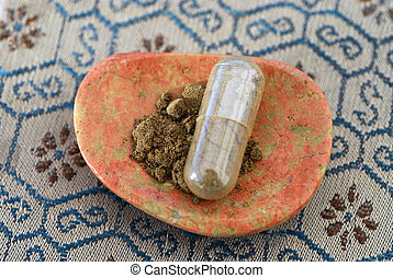 Herbal Capsule and Contents