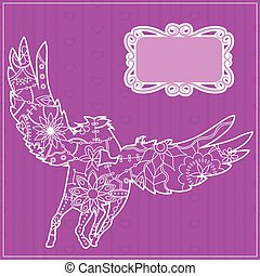 Pink backdrop with pegasus - Vector pink backdrop with...