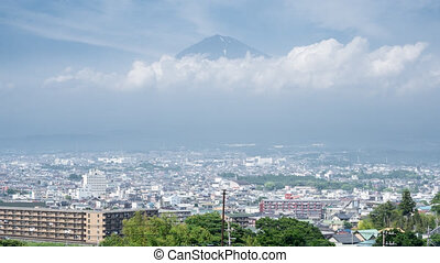 Mt Fuji and Fujinomiya city Time-Lapse - Time Lapse of Mt...