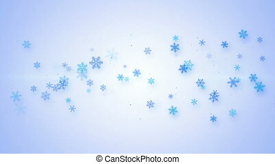 christmas animation with snowflakes seamless loop