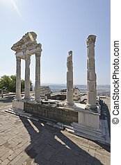 Pergamum-Turkey - Built on a conical hill rising 1,000 feet...