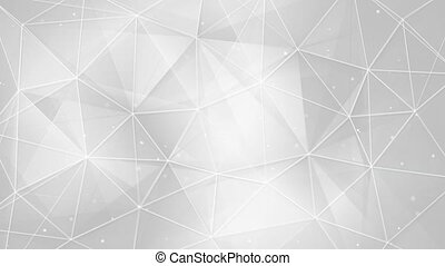 abstract white triangles and lines background seamless loop...