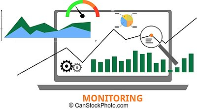 vector - monitoring - An illustration showing a monitoring...