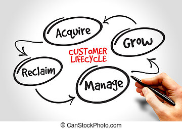 Customer life cycle, marketing business management strategy