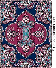 elaborate original floral large area carpet design for print...