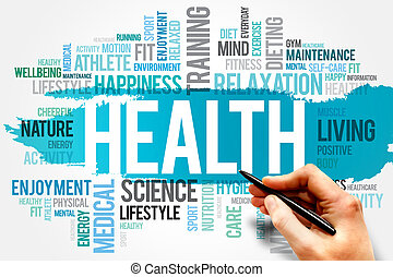 HEALTH word cloud concept