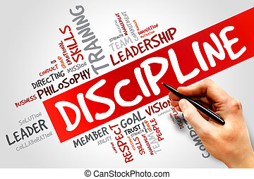 DISCIPLINE word cloud, business concept