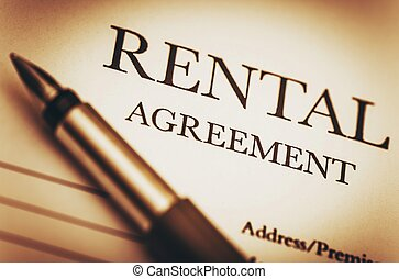 Rental Agreement and Fountain Pen Ready to Sign Rental...