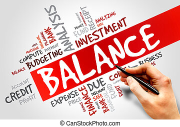 BALANCE word cloud, business concept