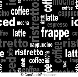 Elegant coffee seamless. Vector eps 10