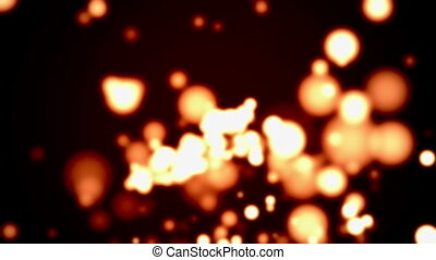 Amber Particle Background Loop - Abstract amber particle...