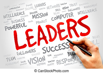 LEADERS word cloud, business concept