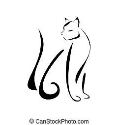 bobcat - Bobcat on a white background.vector illustration