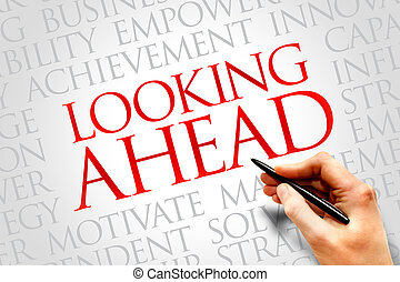Looking ahead word cloud, business concept