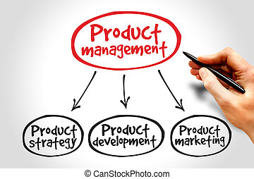 Product management mind map, business concept
