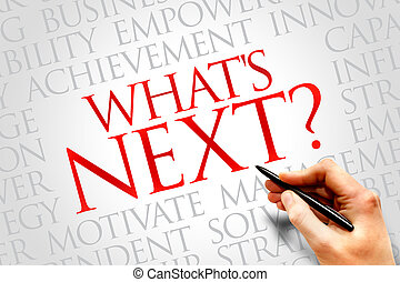 What's Next word cloud, business concept