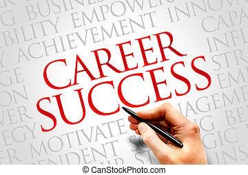 Career Success word cloud, business concept