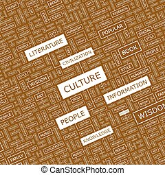 CULTURE Word cloud illustration Tag cloud concept collage