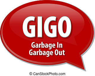 GIGO acronym definition speech bubble illustration - Speech...