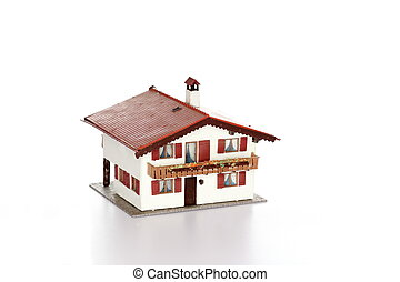 house model - isolated small house model on white background