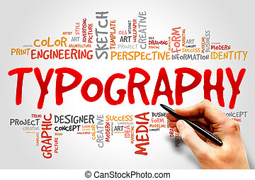 TYPOGRAPHY word cloud, business concept