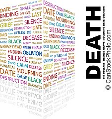DEATH Word cloud illustration Tag cloud concept collage