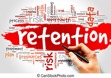 Retention - Word Cloud with Retention related tags, business...