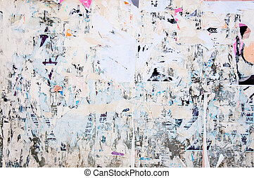 abstract background of torn paper on the wall