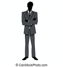silhouette of a man in a business s