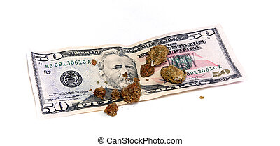 50 dollar pot buds - A 50 dollar US currency bill with...