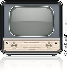 Vintage retro tv set icon Eps10 vector illustration Isolated...