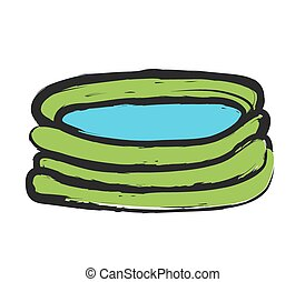 doodle  swimming pool, vector