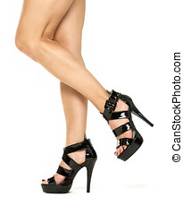 Female legs in High Heels Shoes, XXXL image - Female legs in...