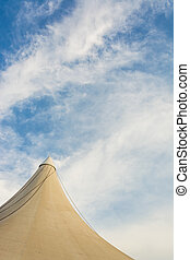 circus tent - image of circus tent and clear blue sky in...
