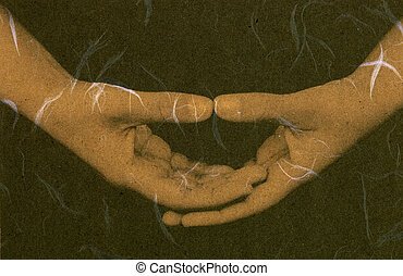 Meditation Mudra - Hands forming a popular meditation mudra....