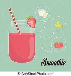 Smoothie design. - Smoothies digital design, vector...