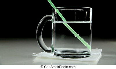 Mineral Water in a Glass Cup - Mineral Water Mixed Plastic...