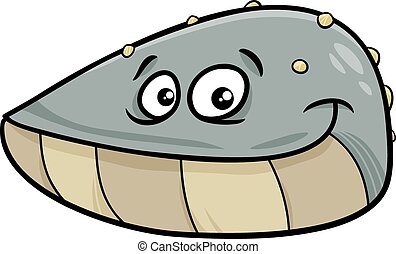 mussel mollusk cartoon illustration - Cartoon Illustration...