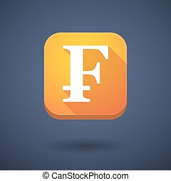 App button with a swiss franc sign - Illustration of an app...