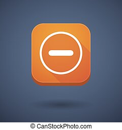 App button with a subtraction sign - Illustration of an app...