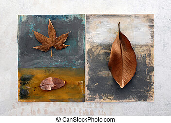 Still Life 4 - Natural still life with painted surfaces....