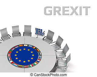grexit - metaphorical image concerning the situation of...