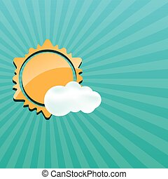 Abstract creative sun design vector illustration