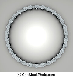 bicycle chain - 3D rendering of the bicycle chain