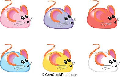 MICE IN SIX COLOURS