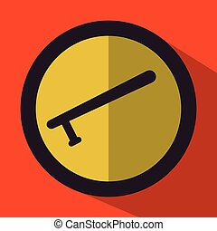 justice icon design over orange background, vector...