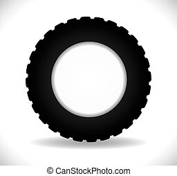Tire design over white background
