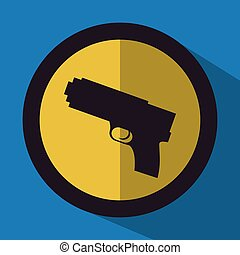 justice icon design over blue background, vector...